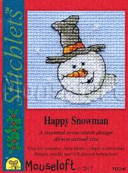 Borduurpakket Happy Snowman - Mouseloft
