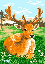 Pre-printed Aida Deer - Matryonin Posad