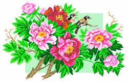 Pre-printed Aida Garden Elegy - Matryonin Posad