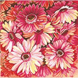 Voorbedrukt Aida Summer Bouquet - Matryonin Posad
