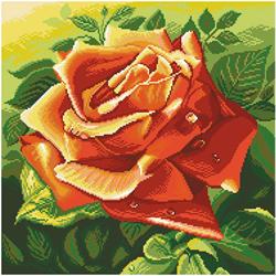 Voorbedrukt Aida Red Rose - Matryonin Posad