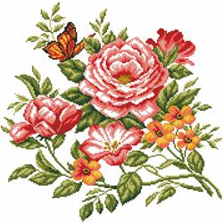 Pre-printed Aida Flowers Delight - Matryonin Posad