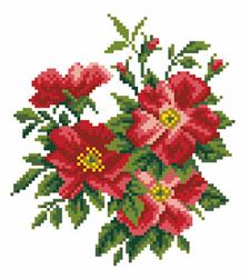 Pre-printed Aida Dog Rose - Matryonin Posad