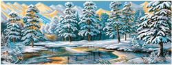 Pre-printed Aida Winter Forest - Matryonin Posad