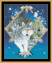 Borduurpatroon Wolf Song - Mystic Stitch
