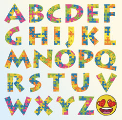 Diamond Dotz Puzzle Alphabet - Needleart World