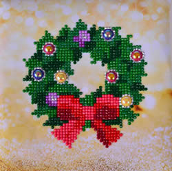 Diamond Dotz Christmas Wreath Picture - Needleart World