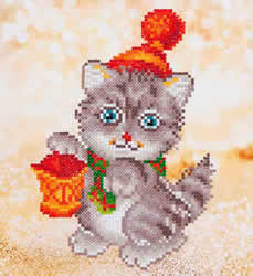 Diamond Dotz Christmas Kitten Glow - Needleart World