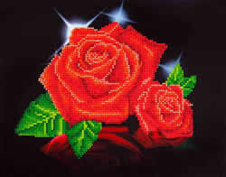 Diamond Dotz Red Rose Sparkle - Needleart World