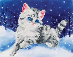 Diamond Dotz Kitten in the Snow - Needleart World