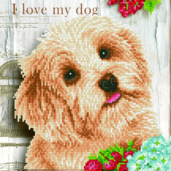 Diamond Dotz I Love my Dog - Needleart World