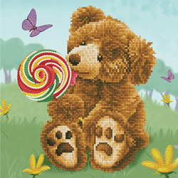 Diamond Dotz Honey Pot Bear Lolly Pop Lick - Needleart World