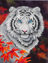 Diamond Dotz White Tiger in Autumn - Needleart World