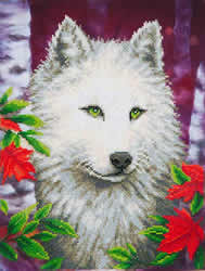 Diamond Dotz White Wolf - Needleart World