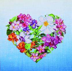 Diamond Dotz Flower Heart - Needleart World