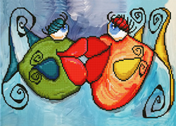 Diamond Dotz Fishy Kissy - Needleart World