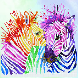 Diamond Dotz Rainbow Zebras - Needleart World