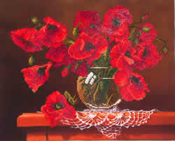 Diamond Dotz Red Poppies - Needleart World