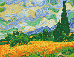 Diamond Dotz Wheat Fields (Van Gogh) - Needleart World