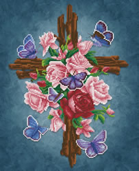 Diamond Dotz Flower Cross - Needleart World