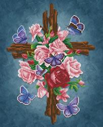 Diamond Dotz Flower Cross - Needleart World