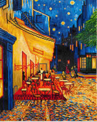 Diamond Dotz Café at Night (Van Gogh) - Needleart World