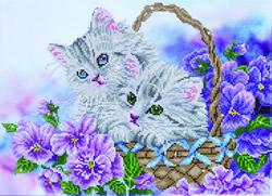 Diamond Dotz Kitty Basket - Needleart World