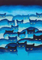 Diamond Dotz Smokey Mountain Cats - Needleart World