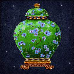 Diamond Dotz Green Vase - Needleart World