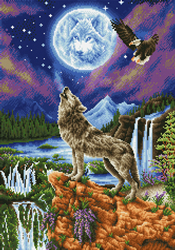 Diamond Dotz Mystic Wolf - Needleart World