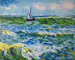 Diamond Dotz Seascape at Saint Maries (Van Gogh) - Needleart World