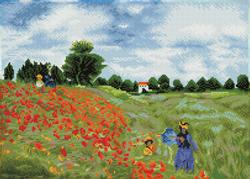 Diamond Dotz Poppy Fields (aprÞs Monet) - Needleart World