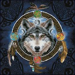 Diamond Dotz Celtic Wolf Guide - Needleart World