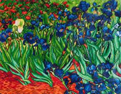 Diamond Dotz Irises (Van Gogh) - Needleart World