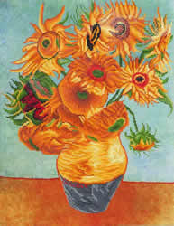 Diamond Dotz Sunflowers (Van Gogh) - Needleart World