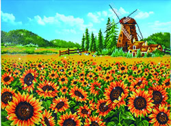 Diamond Dotz Sunflower Windmill - Needleart World