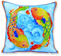Diamond Dotz Pillow - Dancing Fish - Needleart World