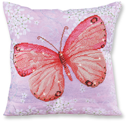 Diamond Dotz Pillow - Papillon Abricot - Needleart World