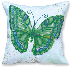 Diamond Dotz Pillow - Papillon Vert - Needleart World