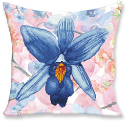 Diamond Dotz Pillow Sparkle Garden Blue - Needleart World