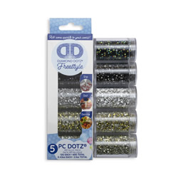 Diamond Dotz Dotz in Cylinders 5x 12 g - Metallic - Needleart World