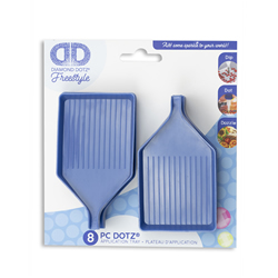 Diamond Dotz Blue Trays with pouring lip - 8 pieces - Needleart World