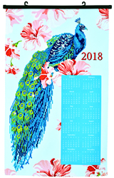 Diamond Dotz Peacock Calendar - Needleart World