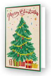 Diamond Dotz Greeting Card Merry Christmas Tree - Needleart World
