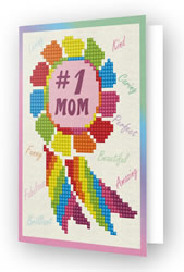 Diamond Dotz Greeting Card Number 1 Mom - Needleart World