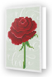 Diamond Dotz Greeting Card Love Rose - Needleart World