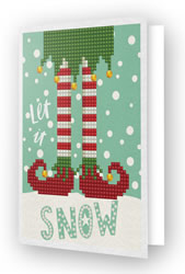 Diamond Dotz Greeting Card Let it Snow - Needleart World