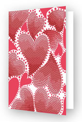 Diamond Dotz Greeting Card Hearts Swirl - Needleart World