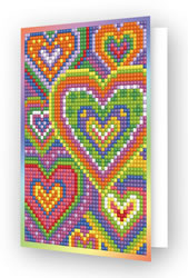 Diamond Dotz Greeting Card Heart Mosaic - Needleart World