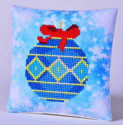 Diamond Dotz Blue Bauble Pillow - Needleart World
